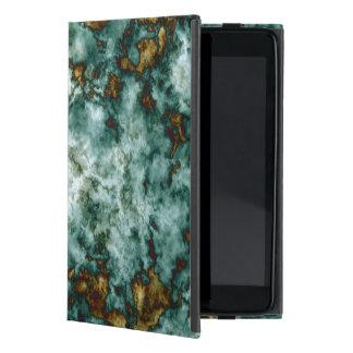 Grön marmorstruktur med åder iPad mini fodraler