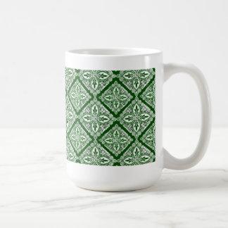 Grön medaljongkaffemugg kaffemugg