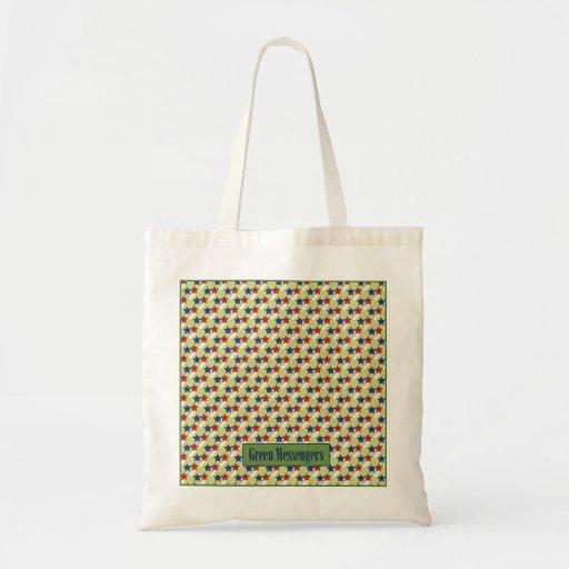 Grön messenger bag tygkasse