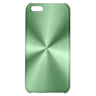 Grön metallisk designrostfritt stålLook iPhone 5C Skal