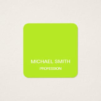 Grön minimalist moderiktig visitkort för limefrukt