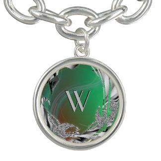 Grön mistFractal Berlockarmband