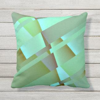 Grön modern abstrakt för pastell utomhuskudde