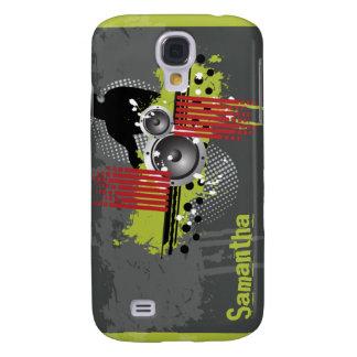 Grön modern Grunge DJ för limefrukt Galaxy S4 Fodral