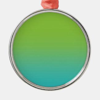 Grön modern konst för krickablåttvattenfärg julgransprydnad metall