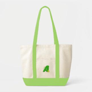 grön monogram A Impulse Tygkasse