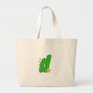 grön monogram för D Jumbo Tygkasse