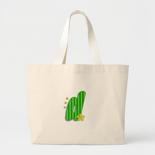 grön monogram för D Tygkassar
