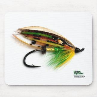 Grön mousepad för Highlanderlaxfluga Musmatta