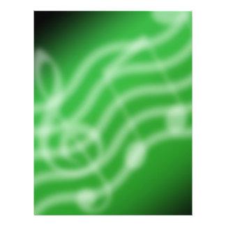 Grön musik reklamblad 21,5 x 30 cm