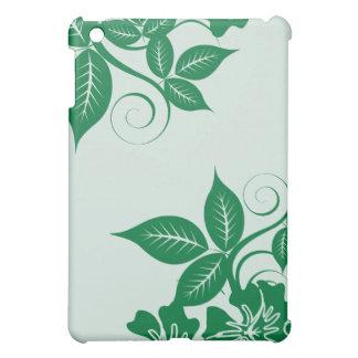 Grön öblommigt för jägare iPad mini mobil skal