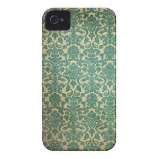 Grön och benvit vintagetryckblackberry bold iPhone 4 cover