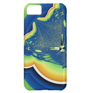 Grön och blåttFractal iPhone 5C Fodral