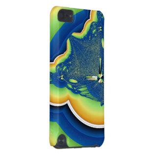 Grön och blåttFractal iPod Touch 5G Fodral
