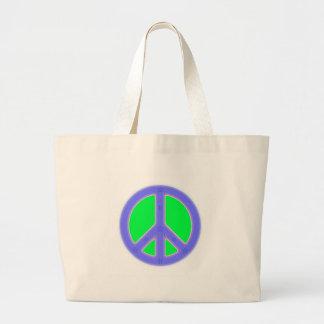 Grön och för blåttfredsymbol design jumbo tygkasse