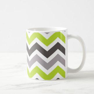 Grön och grå sparre kaffemugg