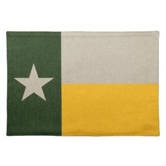 Grön och guld- Texas flaggaBurlap Bordstablett