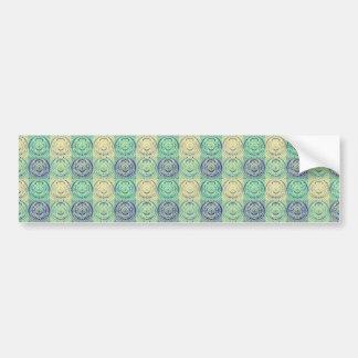 Grön och kräm- vintage utföra i relief mönster bildekaler