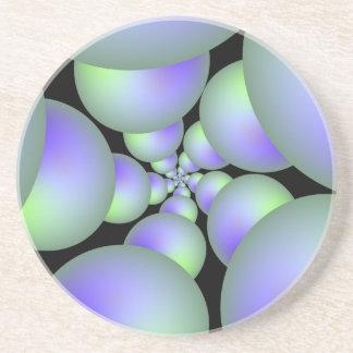Grön och lila Spherespiralkustfartyg Underlägg