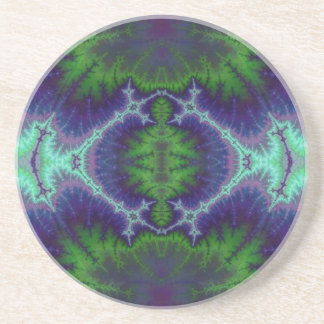 Grön och purpurfärgad elektricitet underlägg sandsten