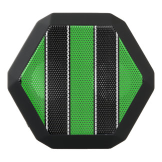 Grön och Svart-Görad randig Bluetooth högtalare
