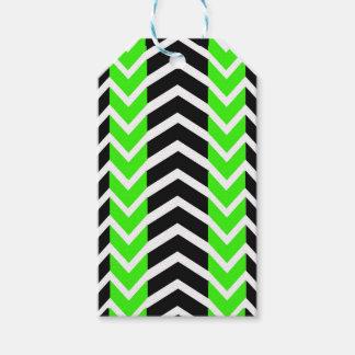 Grön och svart valsparre presentetikett