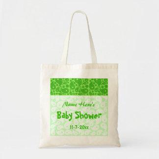 Grön Paisley baby shower Tygkasse