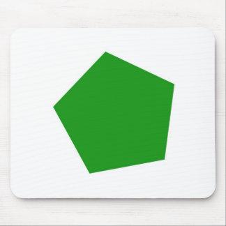 Grön pentagonmousepad mus matta