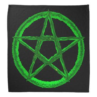 Grön PentagramBandana Bandana