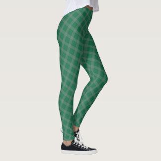 Grön pläddamasker leggings