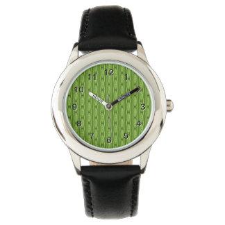 Grön Plantlike modell Armbandsur