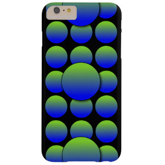 Grön polka dots 3D för blått Barely There iPhone 6 Plus Skal