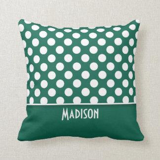 Grön polka dots för flaska; Personlig Kudde