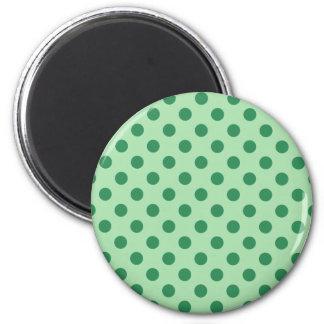 Grön polka dots för hav magnet