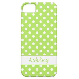 Grön polka dots för limefrukt barely there iPhone 5 fodral