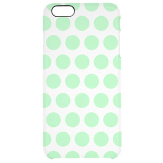 Grön polka dots för Mint Clear iPhone 6 Plus Skal