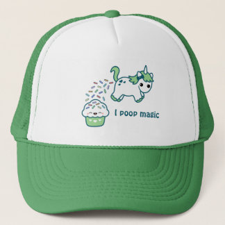 Grön Pooping Unicorn Keps