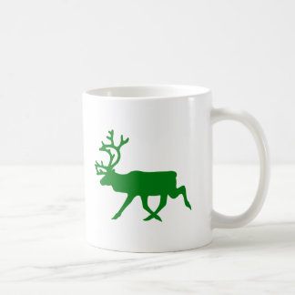 Grön ren kaffemugg