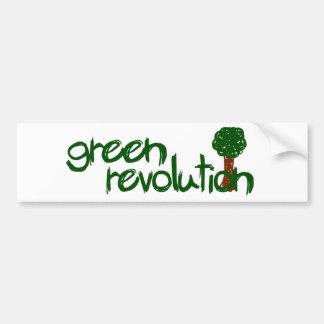 Grön revolution bildekal
