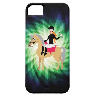 Grön rid- flicka iPhone 5 Case-Mate skydd