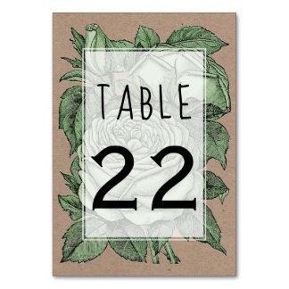 Grön rovintage bröllop som gifta sig bordsnumret bordsnummer