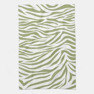 Grön Safarisebra Handukar