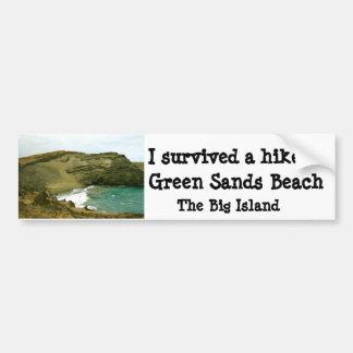 Grön Sandsstrand Hawaii Bildekal