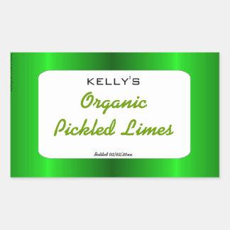 Grön satängknipa- och syltetikett klistermärke