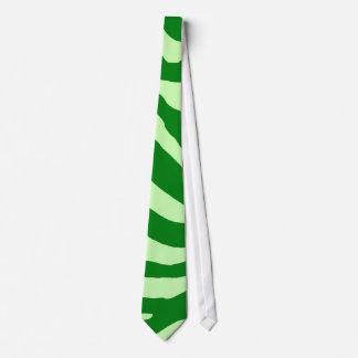 Grön sebra slips