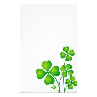 Grön Shamrock från Irland Brevpapper