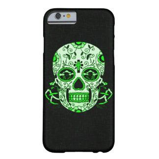 Grön skalle för party för dött huvud för barely there iPhone 6 skal