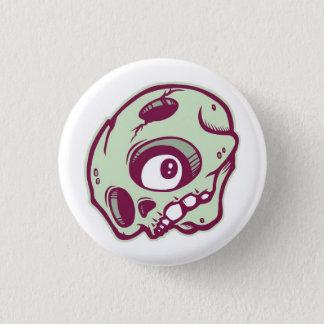 Grön skalle mini knapp rund 3.2 cm