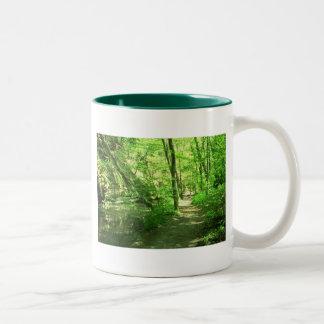 Grön skog Två-Tonad mugg