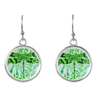 Grön slända örhängen